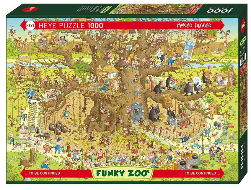 Puzzle Heye Monkey Habitat de 1000 Piezas
