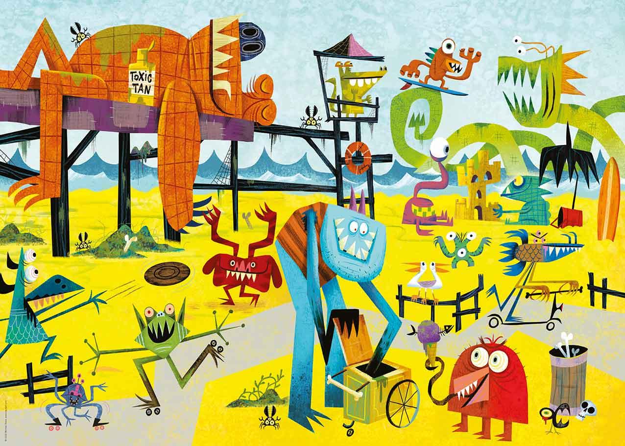 Puzzle Heye Monster Beach de 1000 Piezas