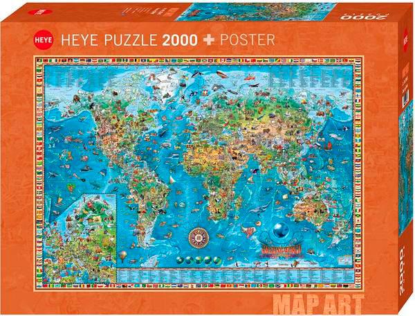 Puzzle Heye Mundo Asombroso de 2000 Piezas