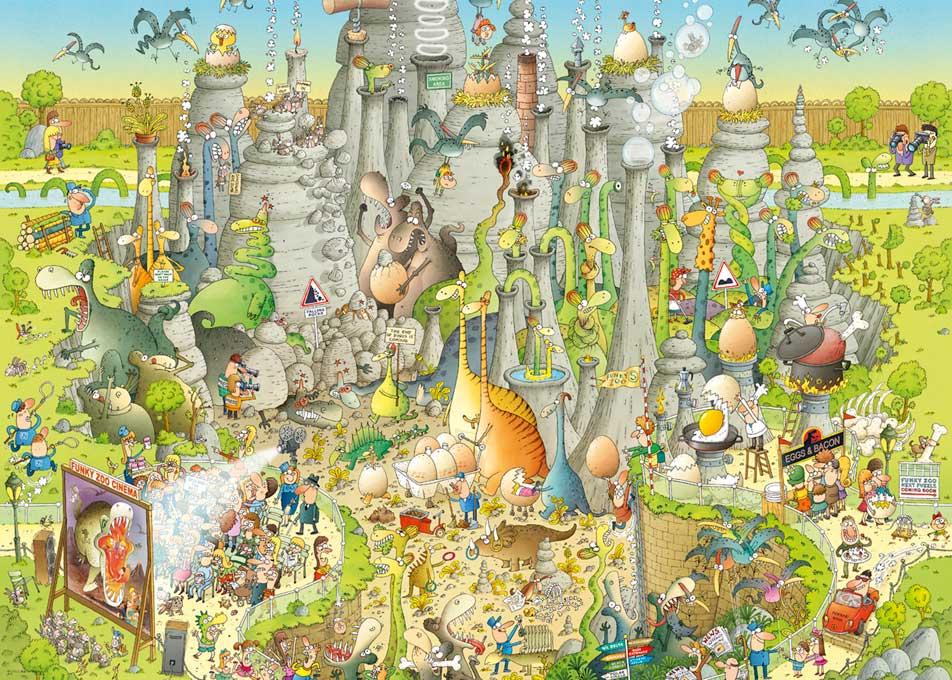 Puzzle Heye Mundo Jurásico de 1000 Piezas
