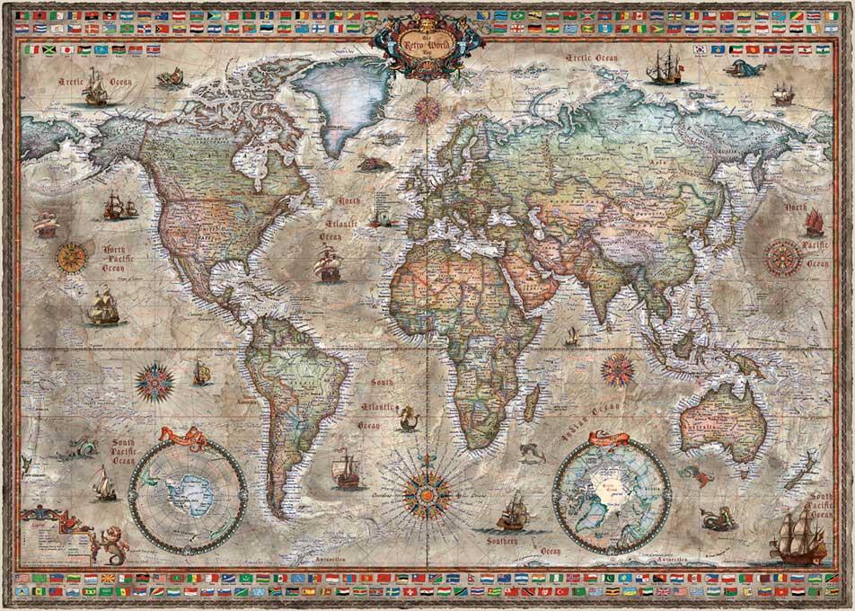 Puzzle Heye Mundo Retro de 1000 Piezas