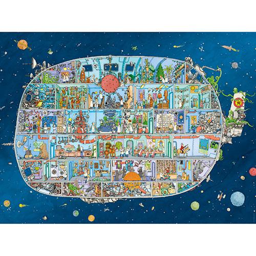 Puzzle Heye Nave Espacial, Caja Triangular de 1500 Piezas