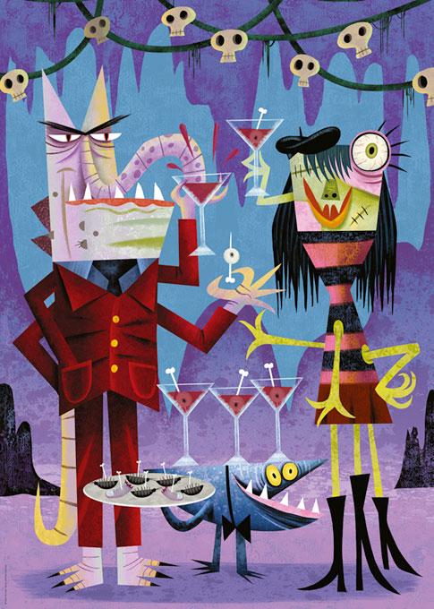 Puzzle Heye Noche de Cocktails de 1000 Piezas