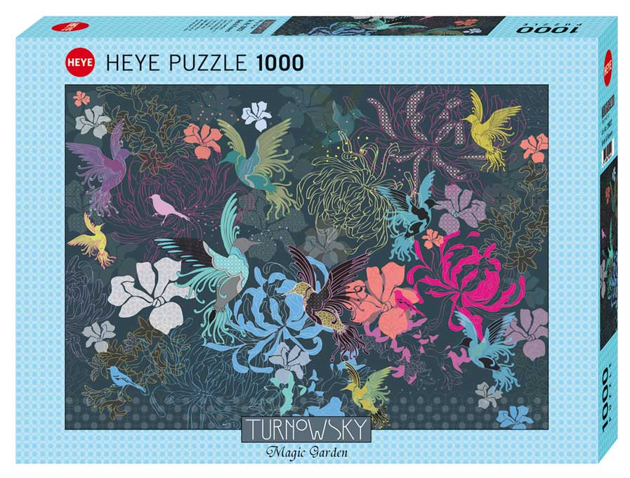 Puzzle Heye Pájaros y Flores de 1000 Piezas