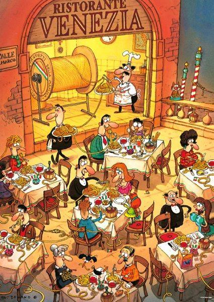 Puzzle Heye Pasta Italiana de 1000 Piezas