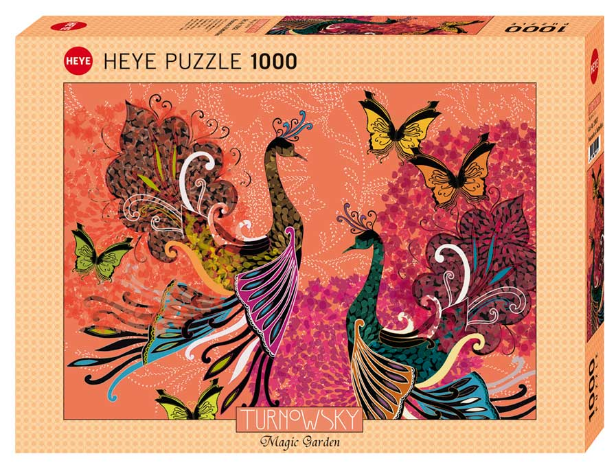 Puzzle Heye Pavos Reales y Mariposas de 1000 Piezas