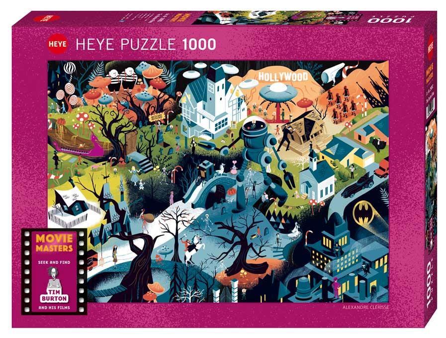 Puzzle Heye Peliculas de Tim Burton de 1000 Piezas