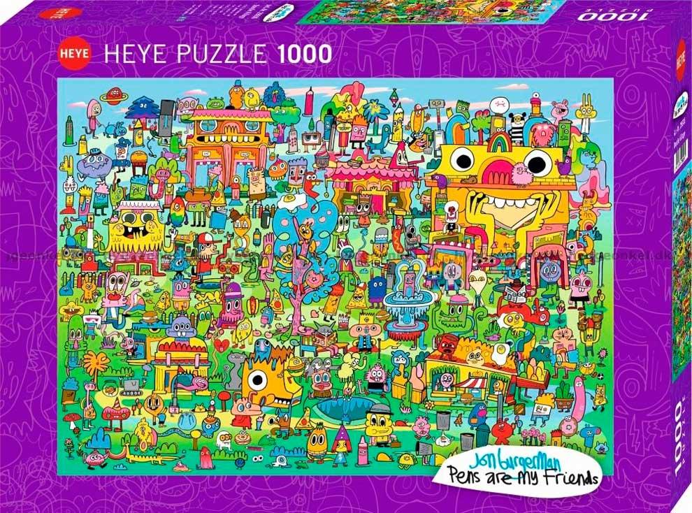 Puzzle Heye Pens Are My Friends de 1000 Piezas