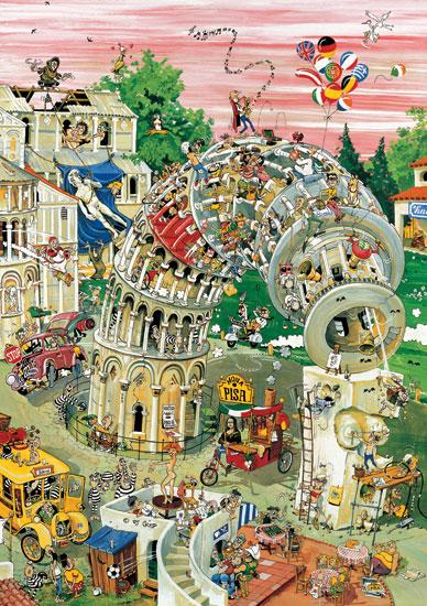 Puzzle Heye Pisa en Movimiento de 1000 Piezas