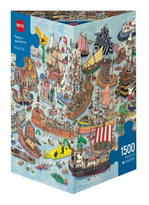 Puzzle Heye Regata, Caja Triangular de 1500 Piezas