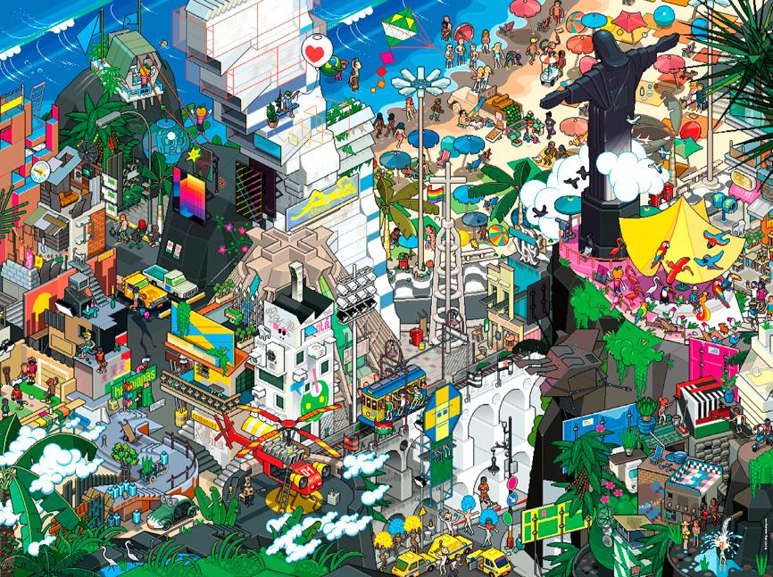 Puzzle Heye Rio de Janeiro, Brasil de 1500 Piezas