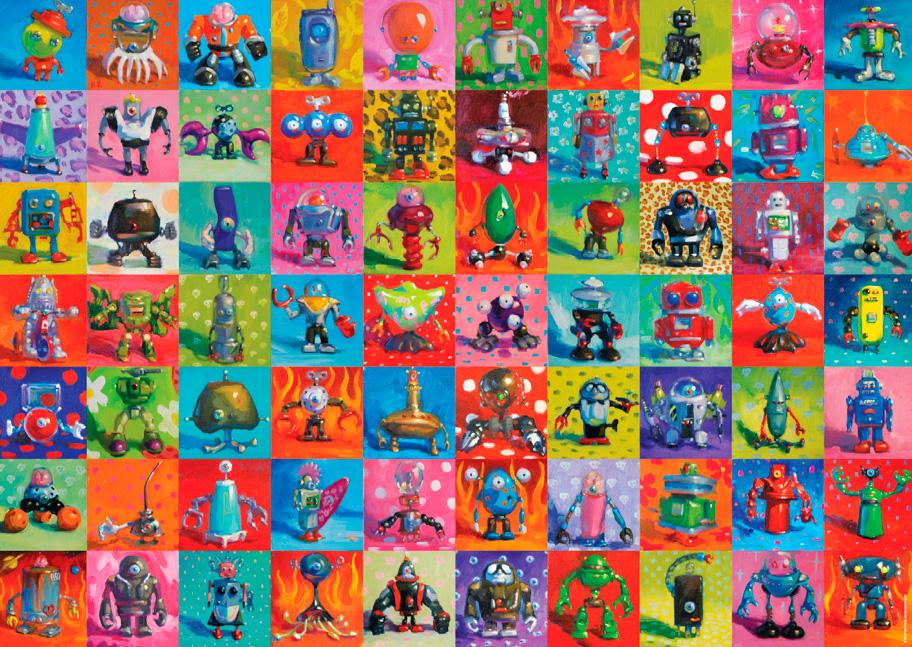 Puzzle Heye Robots de 2000 Piezas