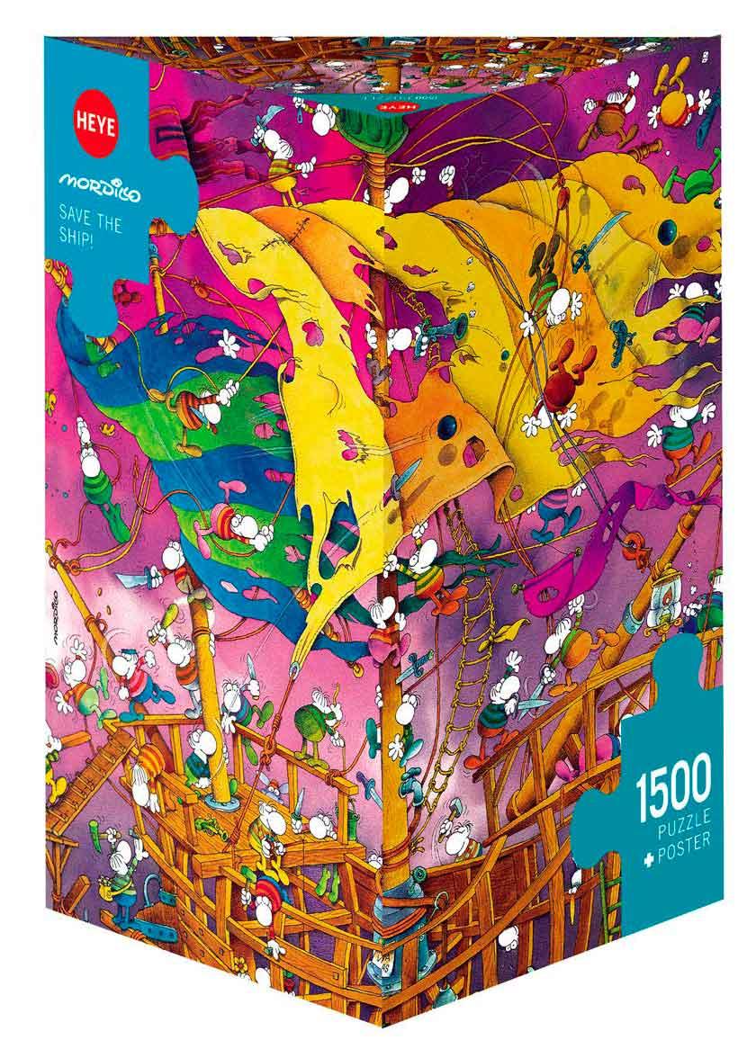 Puzzle Heye Salvad el Barco!, Caja Triangular de 1500 Piezas