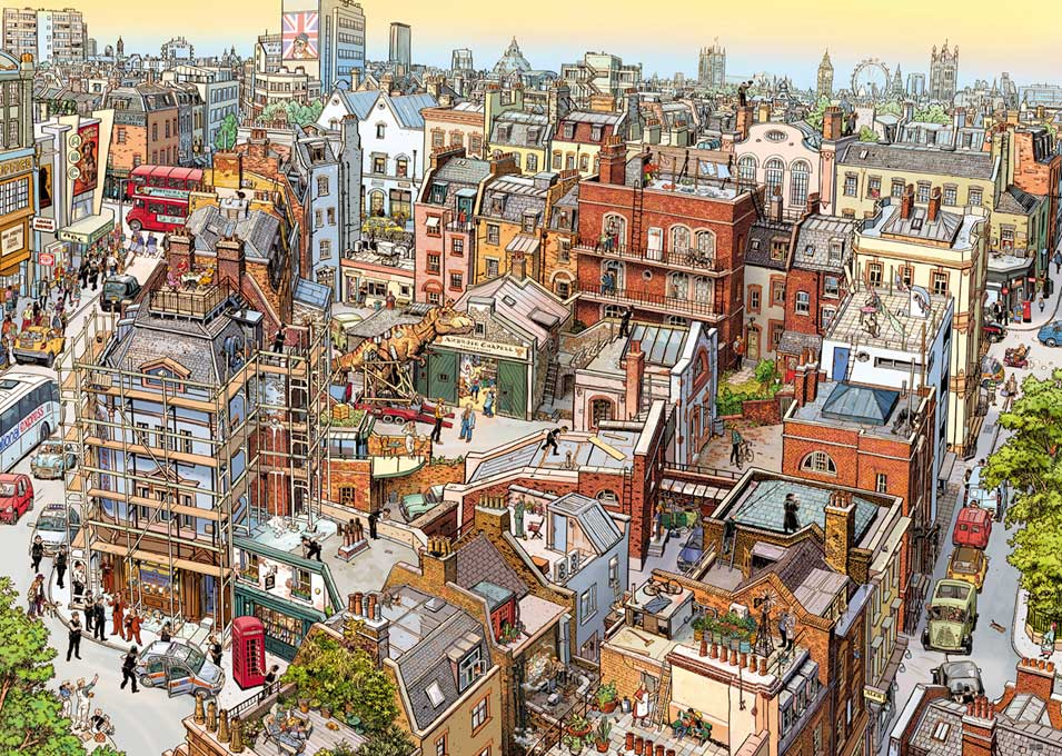 Puzzle Heye Sherlock y Compañía de 2000 Piezas