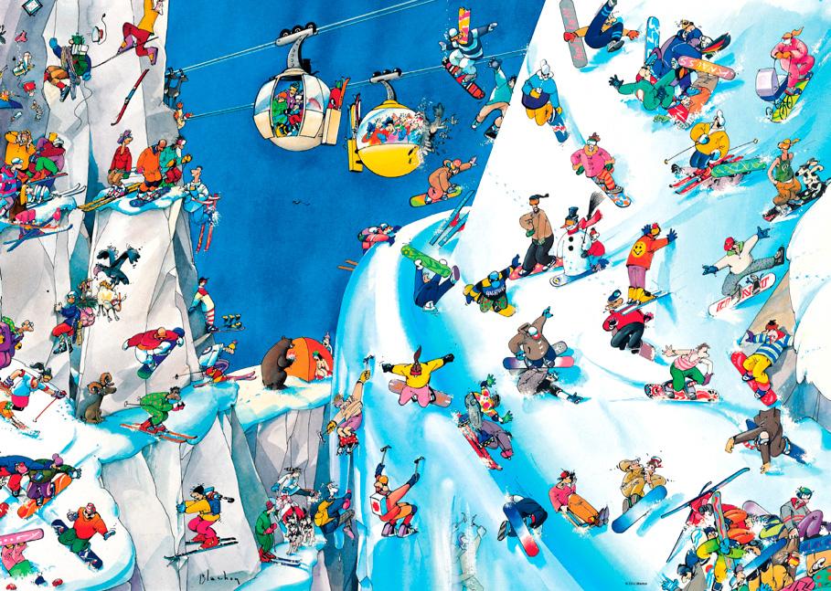 Puzzle Heye Snowboards de 1000 Piezas