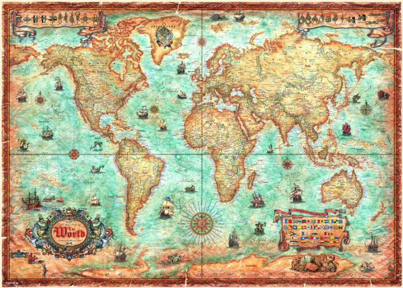 Puzzle Heye The World, Mapa del Mundo de 3000 Piezas