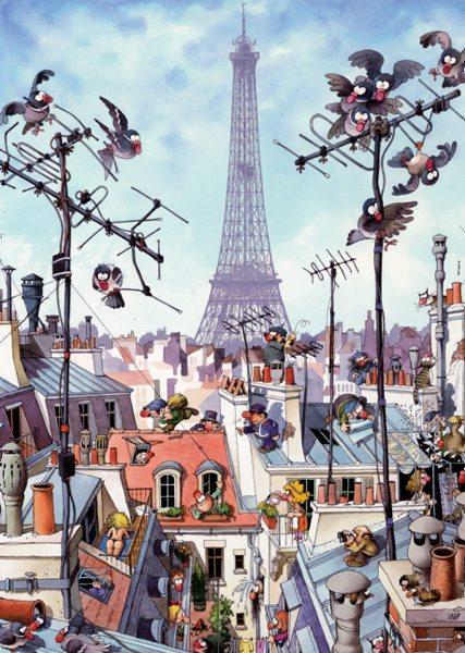Puzzle Heye Torre Eiffel de 1000 Piezas