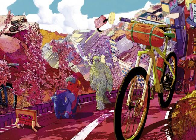 Puzzle Heye Tour in Pink de 1000 Piezas