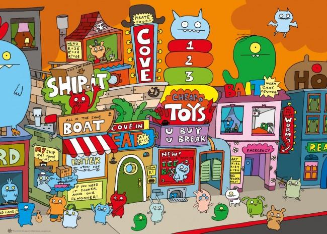 Puzzle Heye Ugly Town de 1000 Piezas