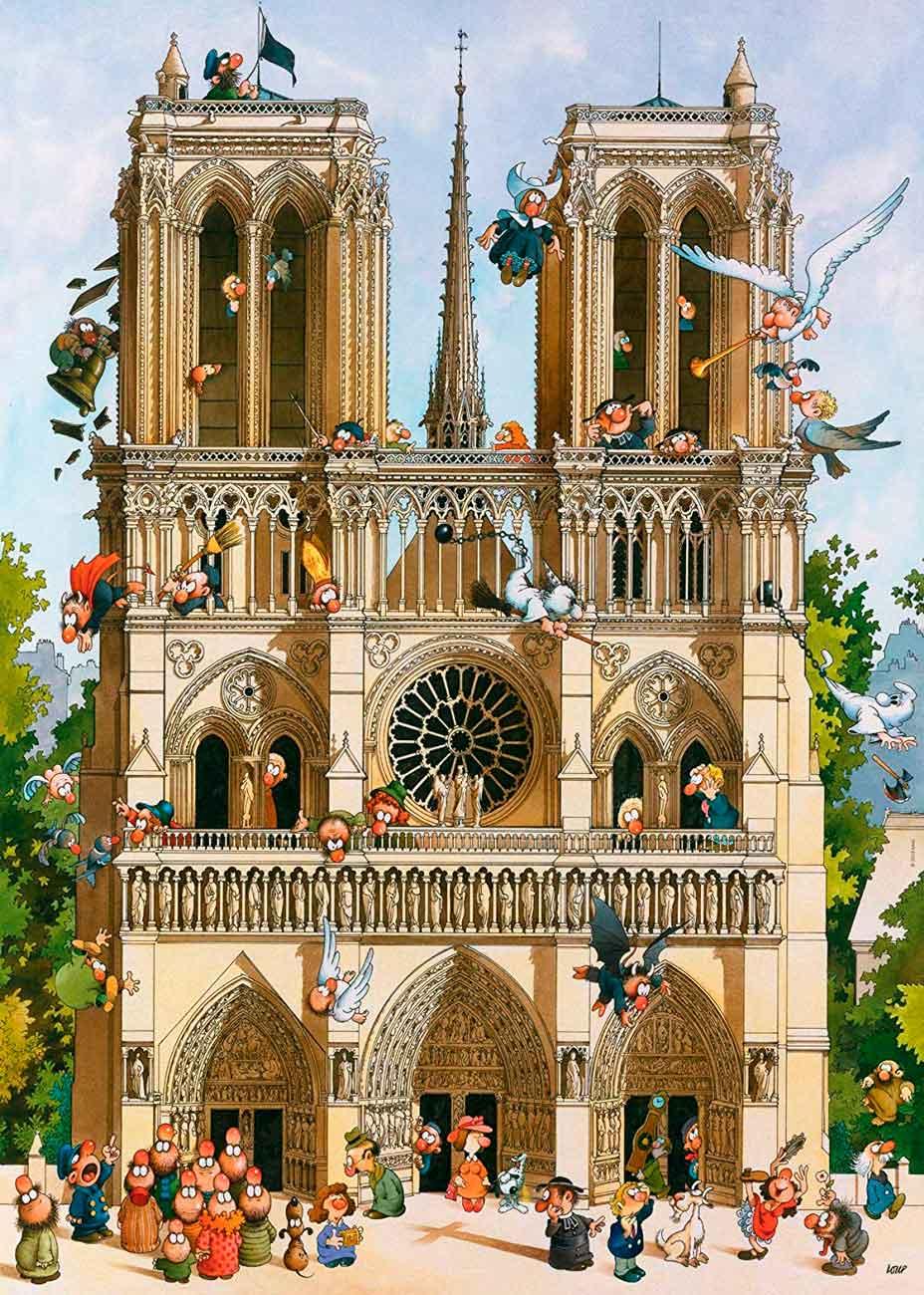 Puzzle Heye Viva Notre Dame! de 1000 Piezas