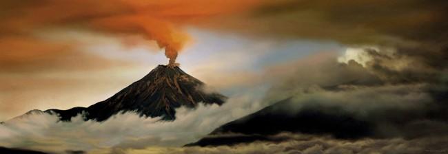 Puzzle Heye Volcán en Erupción de 1000 Piezas