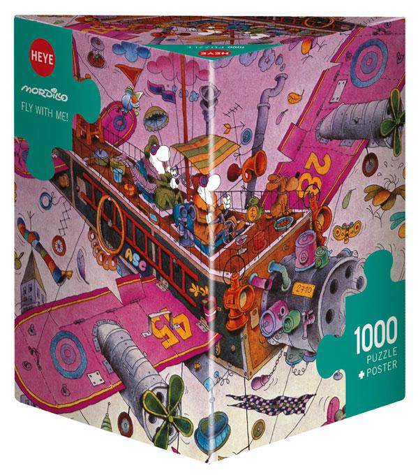 Puzzle Heye ¡Vuela conmigo! Caja Triangular de 1000 Piezas