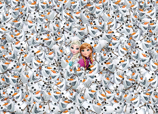 Puzzle Imposible Clementoni Frozen de 1000 Piezas