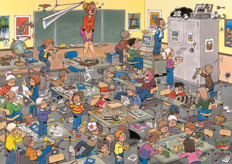 Puzzle Jumbo A la Caza del Ratón de 500 Piezas