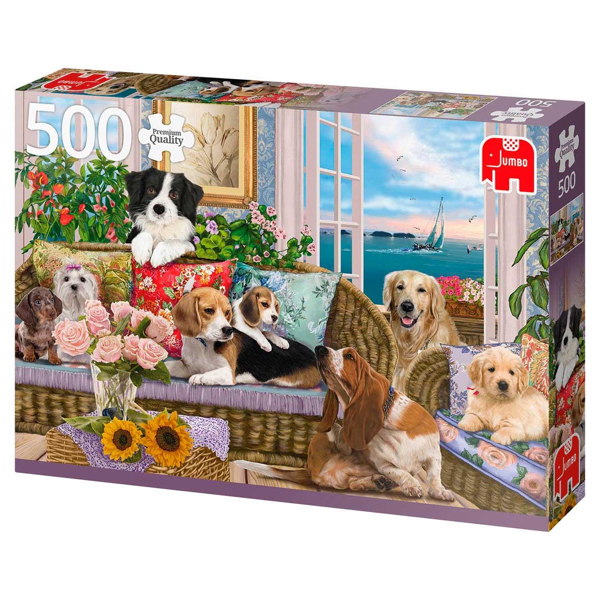 Puzzle Jumbo Amigos Peludos de 500 Piezas