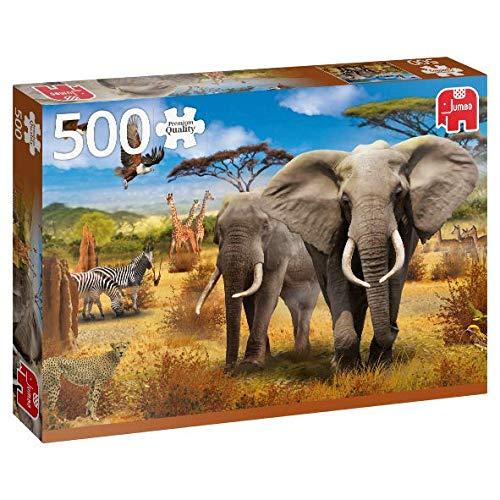 Puzzle Jumbo Animales de la Sabana Africana de 500 Piezas