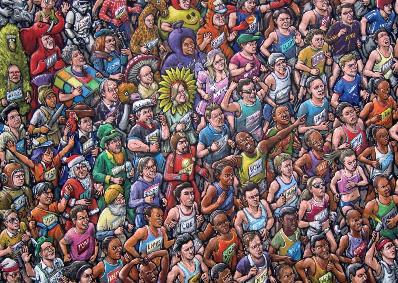 Puzzle Jumbo Atletas y Corredores de 1000 Piezas