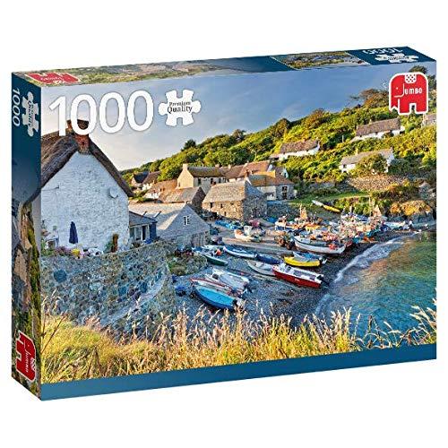Puzzle Jumbo Barcas de Pesca en Conrwall Inglaterra de 1000 Piez