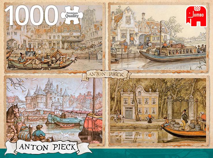 Puzzle Jumbo Barcos del Canal de 1000 Piezas