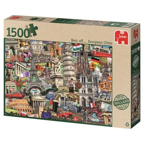 Puzzle Jumbo Best of European Cities de 1500 Piezas