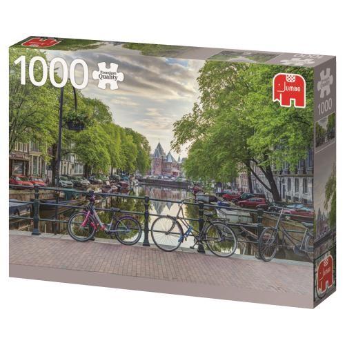 Puzzle Jumbo Bicicletas de Amsterdam de 1000 Piezas