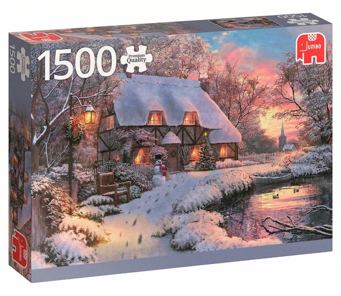 Puzzle Jumbo Cabaña de Invierno de 1500 Piezas