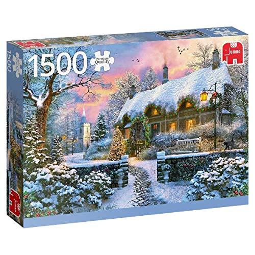 Puzzle Jumbo Cabaña en Invierno de 1500 Piezas