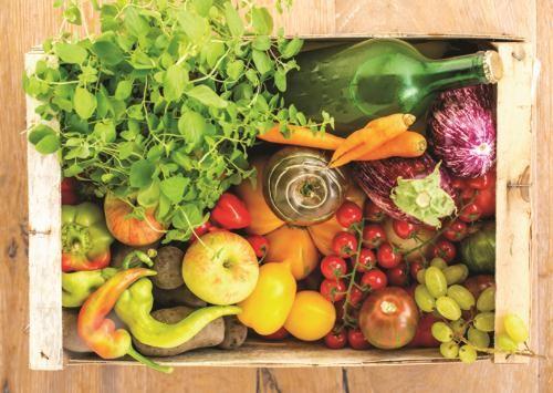 Puzzle Jumbo Caja de Vegetales y Frutas de 500 Piezas