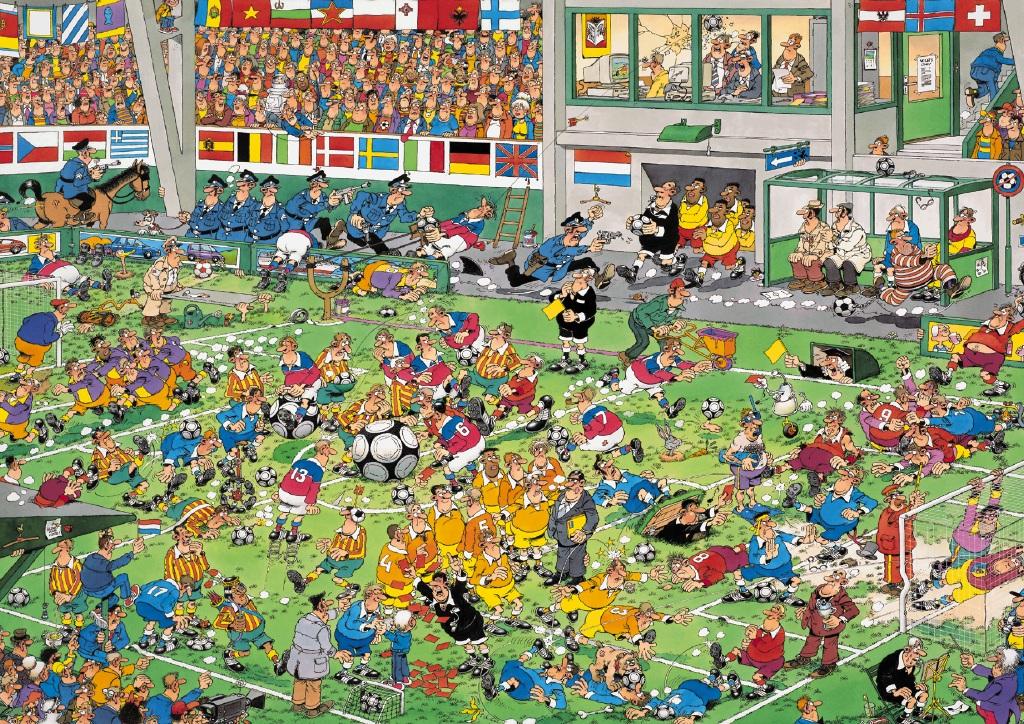 Puzzle Jumbo Campeonato de Fútbol de 2000 Piezas