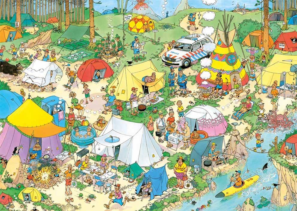 Puzzle Jumbo Camping en el Bosque de 2000 Piezas