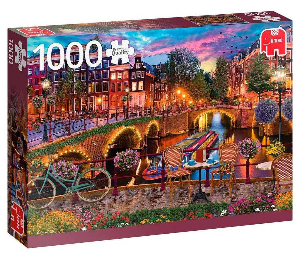 Puzzle Jumbo Canales de Amstrerdam de 1000 Piezas