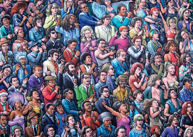 Puzzle Jumbo Cantantes Solistas de 1000 Piezas