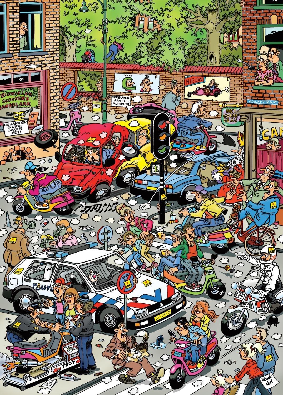 Puzzle Jumbo Caos de Tráfico de 500 Piezas