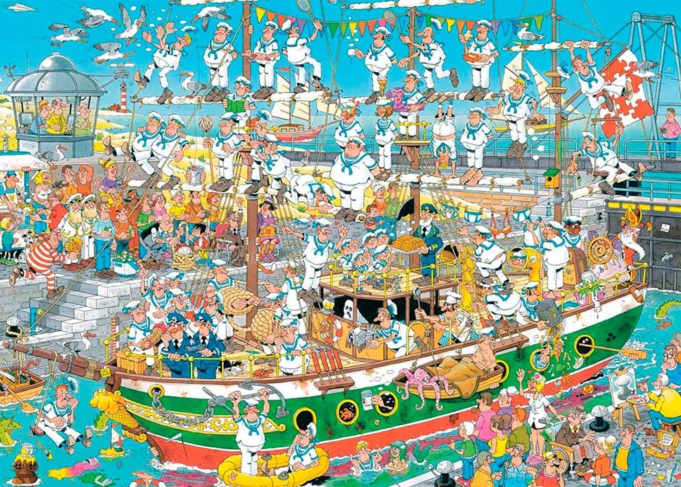 Puzzle Jumbo Caos en el Barco de 1000 Piezas