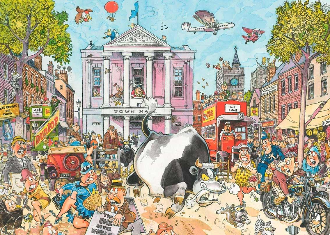 Puzzle Jumbo Caos en el Mercado de 1000 Piezas