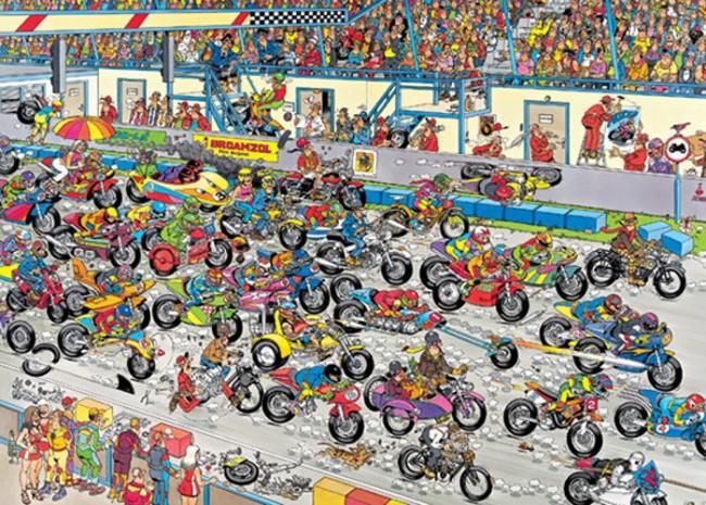 Puzzle Jumbo Carrera de Motos de 1000 Piezas