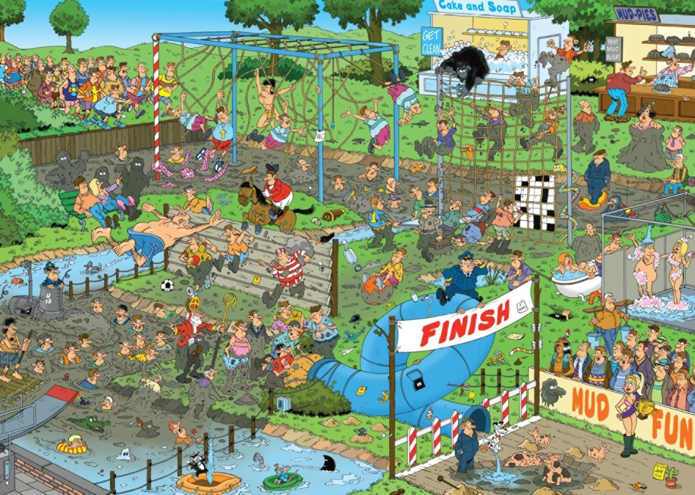 Puzzle Jumbo Carrera en el Barro de 1000 Piezas