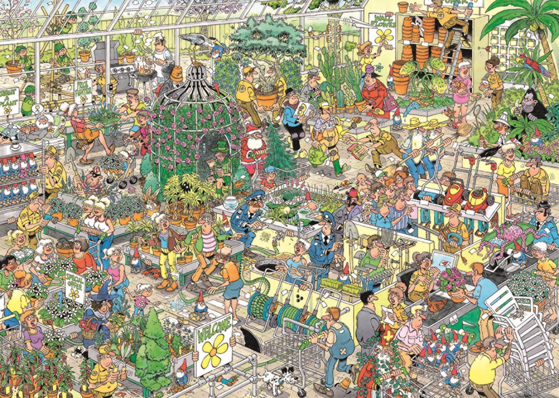 Puzzle Jumbo Centro de Jardinería de 1000 Piezas