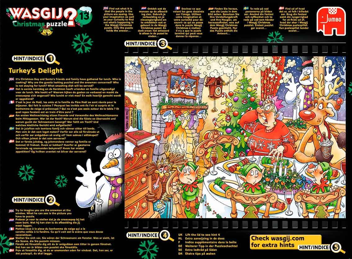 Puzzle Jumbo Christmas La Cena de Navidad de 1000 Piezas