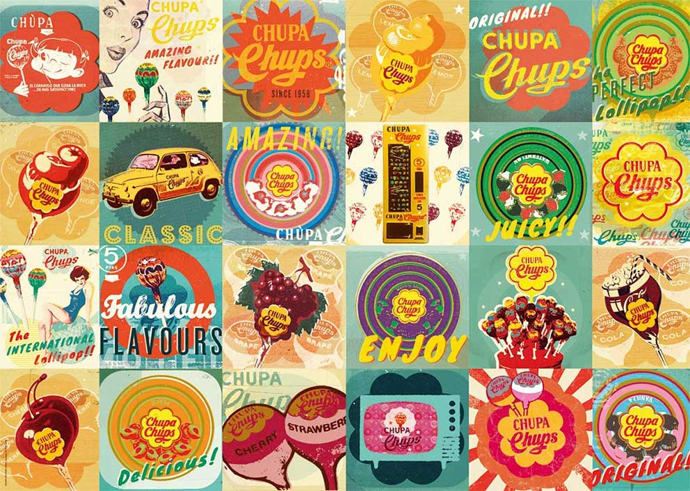 Puzzle Jumbo Chupa Chups Vintage 1000 Piezas